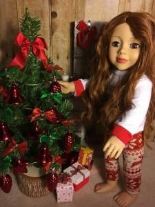 Daniela and Christmas Tree