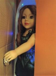 Daniela opening the door