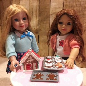 Lily and Daniela baking