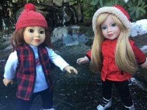 Lily and Daniela skating