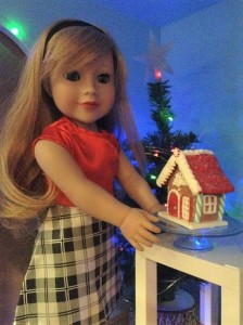 Lily and gingerbread house